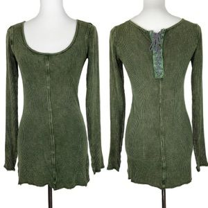 Buckle Gilded Intent Green Thermal Tunic Top Small